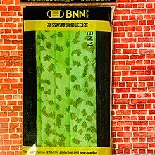 BNN撞色成人平面FL口罩:極光綠豹紋撞黑邊💚原廠5片裝~