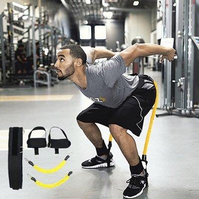 腿部訓練拉力器拉力繩(2入)-深蹲籃球排球網球訓練彈力繩5色73pp406[獨家進口][米蘭精品]