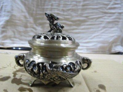 二手舖 NO.767 銅雕 銅香爐 盤香爐 雕工細膩