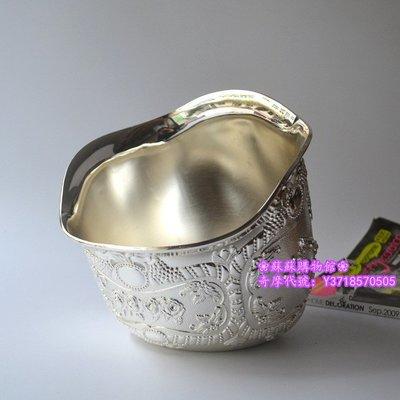 ❀蘇蘇購物館❀新款歐式精品鍍銀桌面垃圾桶零食桶 碗形冰桶餐廳酒店KTV裝飾用品