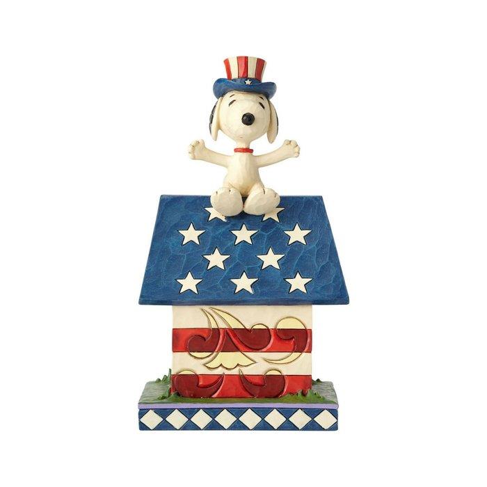 【Dona代購】現貨 美國Enesco精品雕塑 史努比狗屋美國 造型塑像 木雕風公仔擺飾 雕像模型