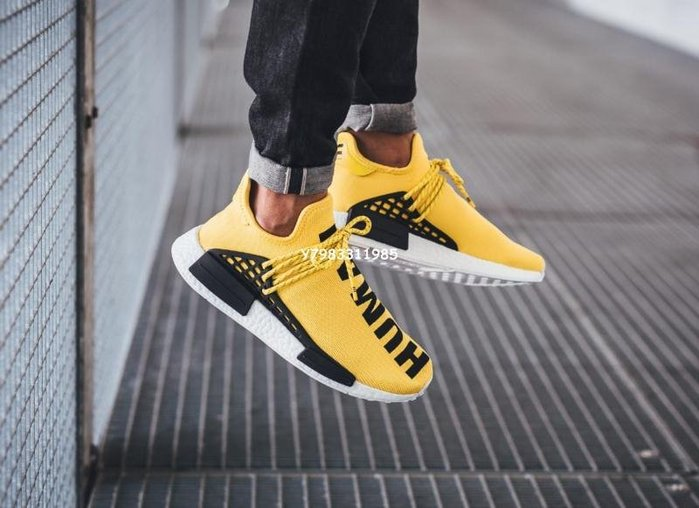 "Adidas Originals Nmd Human Race 休閑運動 慢跑鞋"" Yellow""黃色 Bb0619 男女鞋"