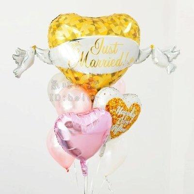 大款 金色婚禮白鴿氣球  /婚禮佈置 拍照道具 求婚氣球 告白氣球 婚禮小物 情人節氣球  結婚氣球 愛情