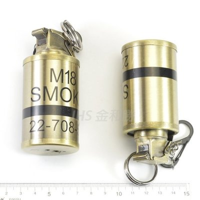 JHS((金和勝 生存遊戲專賣))古銅色 M18煙霧彈 防風打火機 0004