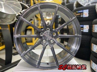 【超前輪業】VERTINI VS01 鍛造鋁圈 19吋鋁圈 5孔114 100 112 108 120 黑灰透全刷