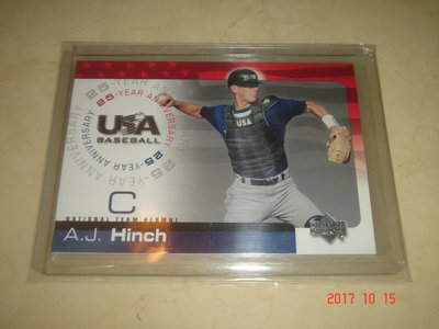 美國職棒 Astros Manager A.J. Hinch 2004 UD Team USA #USA-85 球員卡