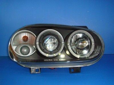 小亞車燈╠ 全新外銷限量新上市 GOLF 98 年golf 4代 雙 光圈 魚眼 黑框 大燈 特價