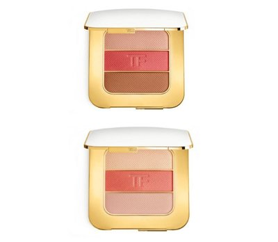 TOM FORD Soleil Contouring Compact 三色頰彩盤 打亮 腮紅 修容 白盤  限定 限量