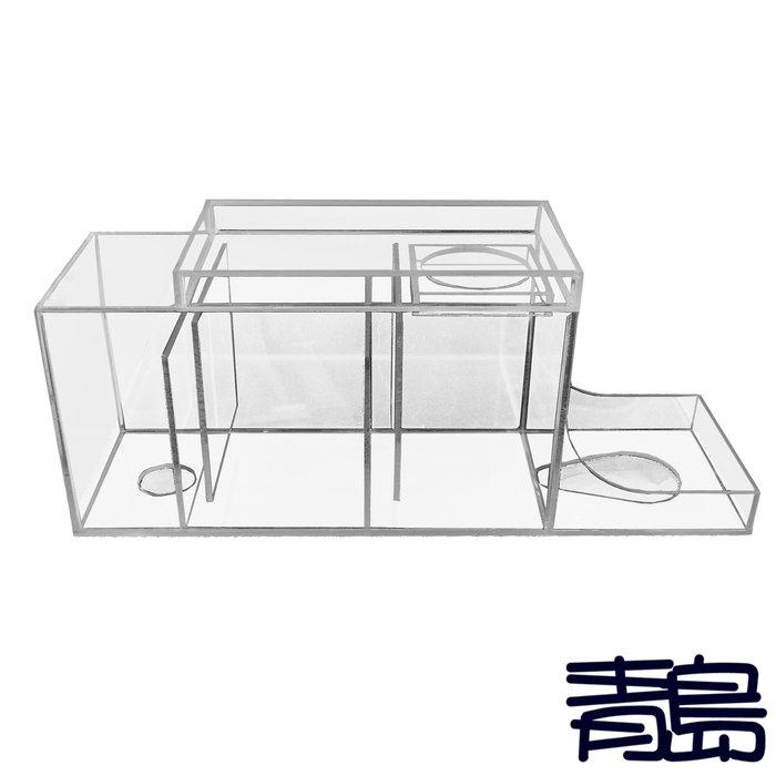 V。。。青島水族。。。10007乾濕分離過濾槽 2017二代基本版 上部式過濾 仿底濾式 乾溼分離==2尺邊條缸專用