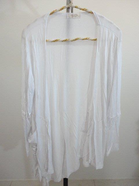 99元起標~XXIN&TTai~造型口袋棉質罩衫外套~白色~SIZE:F