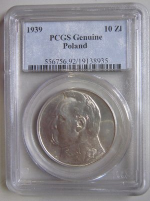 波蘭 1939 10 ZI PCGS UNC