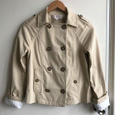 CHICA 米色清新時尚英倫翻領外套