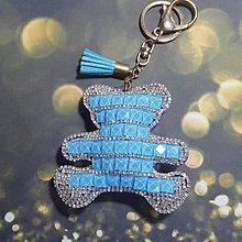 藍色小熊 鑰匙圈鑰匙鍊 包包吊飾