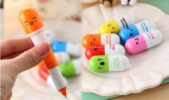 【生活貨櫃】【膠囊造型筆】膠囊筆 方便攜帶 可愛筆