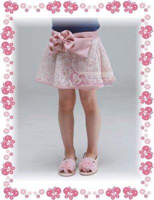 °☆~衣著紡~☆°【㊣韓國進口童裝】俏麗粉紅底蕾絲花造型外出褲裙/原價1200下殺出清690元