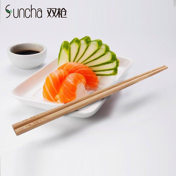 竹筷無漆無蠟家庭碳化筷子10雙防霉防滑家用餐具日式快子套裝