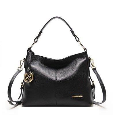 手提 包 真皮肩背包-牛皮經典純色大容量女包包3色73uq1[獨家進口][巴黎精品]