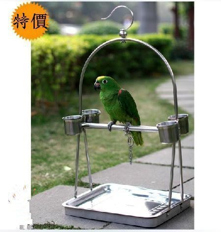 【優上精品】不銹鋼鸚鵡站架鸚鵡籠鳥籠鳥架子鸚鵡架-便攜型(Z-P3213)