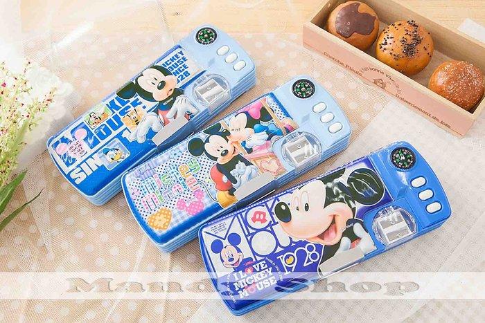 mandyshop【M2891】㊣ Disney迪士尼 / 米奇多功能鉛筆盒 / 收納盒送3枝鉛筆