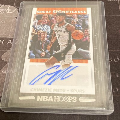 Chimezie Metu 19/20 Hoops Basketball Great SIGnificance GS-CZM Auto