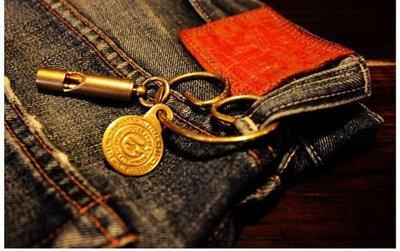 【Wind 】美國jean ring精品 雕花 吊飾 經典款 鑰匙圈 設計感 西岸 黃銅 美國制 口哨 現貨