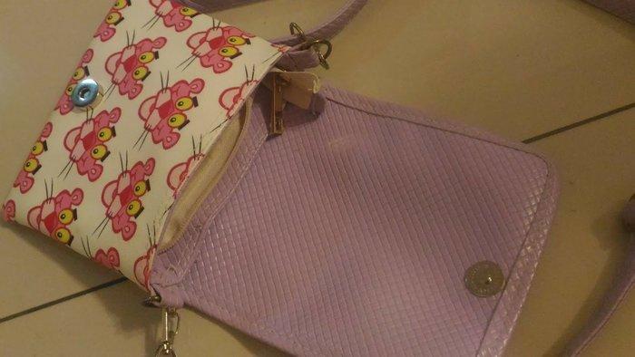 可愛 粉紅豹 側背包背包 原價390元  降價出清