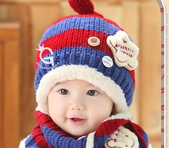 2件套帽子秋冬季2歲3男童4寶寶毛線帽圍巾套裝6小孩5冬天女1