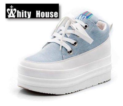 =WHIY=韓國FUPA品牌 韓國製 官網熱賣厚底鞋高級牛仔帆布內增高S3L723