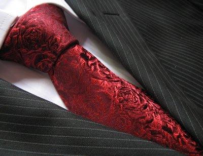 領帶 領巾 領結 領夾 領巾夾結婚玫瑰花漂亮酒紅色 桑蠶絲領帶真絲領帶男正裝