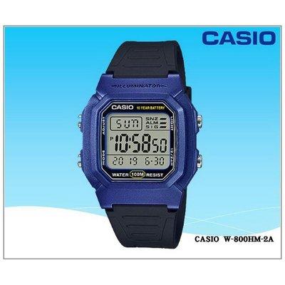 年度新品熱銷casio電子錶腕錶100米潛水錶 大字幕當兵軍用錶生日禮物 中性男女可【↘690】W-800HM