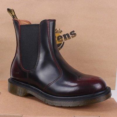 Dr.Martens 馬丁鞋馬汀鞋 經典 2976 短靴  亮面酒紅色【 BRITISH LOOK 】