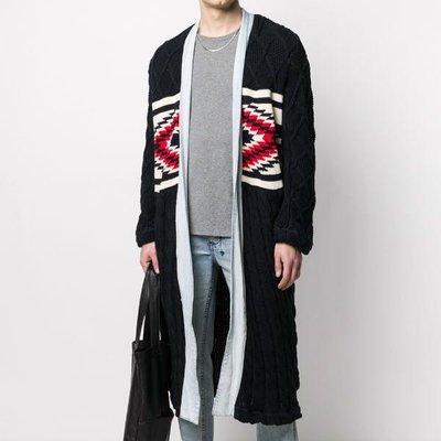 Greg Lauren X Paul & Shark cable knit combined coat 男聯名拼接針織大衣 限時超低折扣代購中