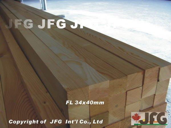 JFG 木材批發 *【DF直角角材】 34 x 40mm 木工 木條 扶手 裝潢 南方松 欄杆 木地板 原木