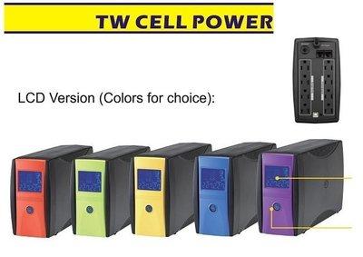 (CELL UPS)  台灣製造 UPS 1100VA LCD液晶數位式不斷電系統 突波雷擊保護 BSMI(星鑽黑外觀)