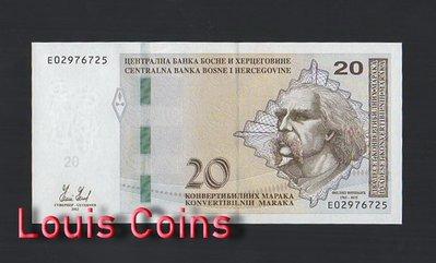 【Louis Coins】B463-BOSNIA & HERZEGOVIN-2012波士尼亞與赫塞哥維納紙幣(黑山)