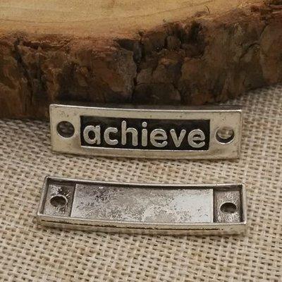【匠真手作材料】…∼古銀色矩形achieve連接件∼10*36mm…一份2個10元