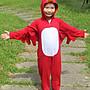 【orange親子小舖】生氣又憤怒的鳥造形服裝(紅色)萬聖節服裝造型/表演道具服90-130cm台灣製