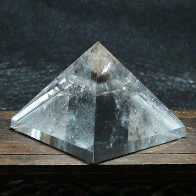 【水晶宮】純天然白水晶金字塔擺件 能量塔 防輻射助打坐冥想能量石支持定制