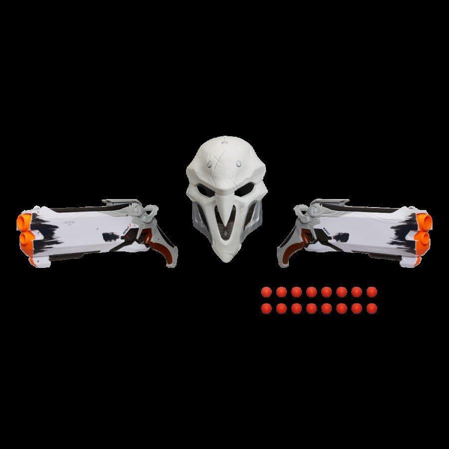 【丹】暴雪商城_Overwatch Wight Reaper 鬥陣特攻 死神 面具 玩具槍 可射擊 組合 兩支槍