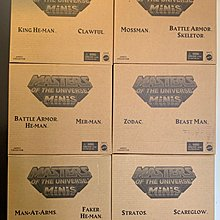 Masters of the Universe Minis He-man figure Set of 6, 可合出 Castle 骷髏頭堡 全新未開