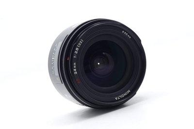 【台中青蘋果】Minolta AF 24mm f2.8 for Sony A 二手 定焦鏡 鏡頭 #44920