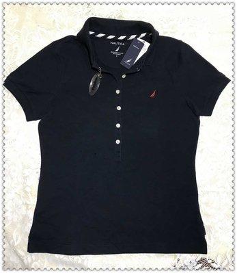 Nautic 深藍色女短袖Polo衫  棉96%彈性纖維4% 百貨專櫃購買$2380割愛價$550