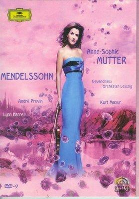 音樂居士#Mutter plays Mendelssohn 門德爾松小提琴協奏曲 奏鳴曲 穆特 D9 DVD