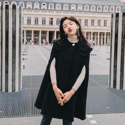 999斗篷大衣    秋冬季2018新款韓版學生寬松呢子外套中長款