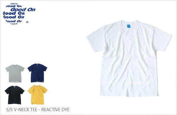 WaShiDa【GOST1001C】Good On 日本品牌 反應染色 5.5oz 美國棉 V領 短袖 T恤
