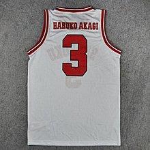 球服訓練服灌籃高手隊服湘北3號赤木晴子籃球服籃球衣背心白色 LOVELIFEE
