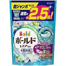 日本P&G BLOD 3D洗衣球44粒補充裝 - 白金花香
