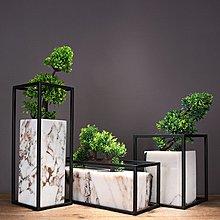 〖洋碼頭〗新中式輕奢大理石組合擺件家居餐桌樣板房客廳裝飾綠植玄關古典花 ysh749