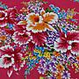 杜鵑花 (紅色) 純棉花布 三尺寬 客家花布/印花布/被單布/拼布/新遠東染紡