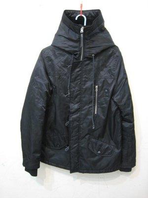 ROCKSTEADY 黑色鋪棉連帽短大衣/M